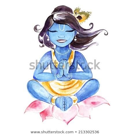 Dios krishna ilustración vector formato Foto stock © orensila