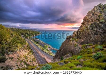 Cueva rocas diferente fotos hierba montana Foto stock © bluering