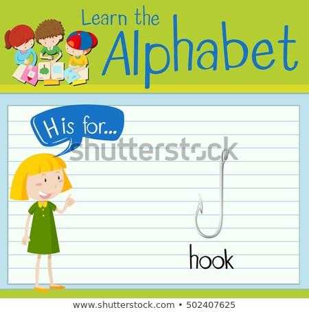 ábécé kampó illusztráció gyerekek gyermek háttér Stock fotó © bluering