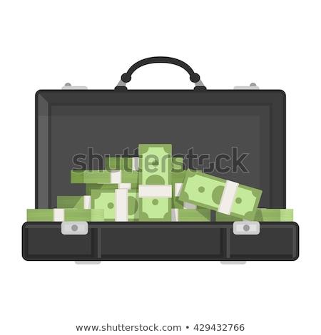 Briefcase full of money, bundle of dollars. Stock photo © RAStudio