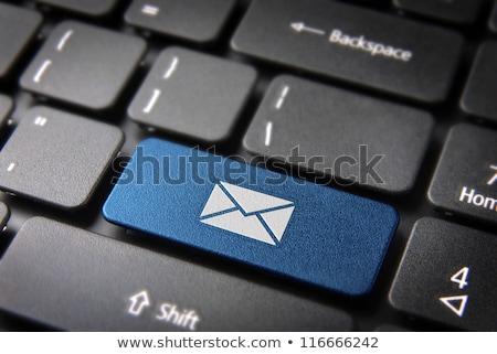 Stockfoto: Toetsenbord · mail · sleutel · Rood · business