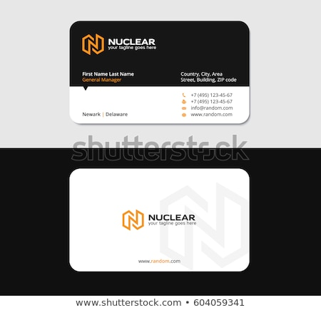 7667164 N Letter Business Card Light By