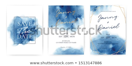 Suluboya mavi leke grunge vektör dizayn Stok fotoğraf © SArts