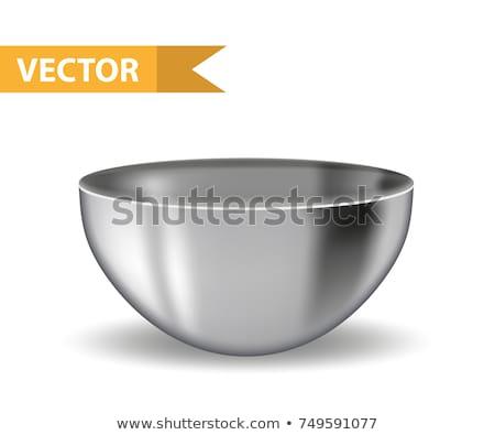 Profonde métal bol acier inoxydable objet argent Photo stock © Digifoodstock