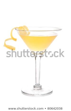 Yellow banana cocktail in martini glass with lemon stock photo © FOTOART-MD