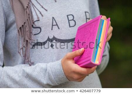 Muslim woman reading holy islamic book Coran Stock photo © adrenalina