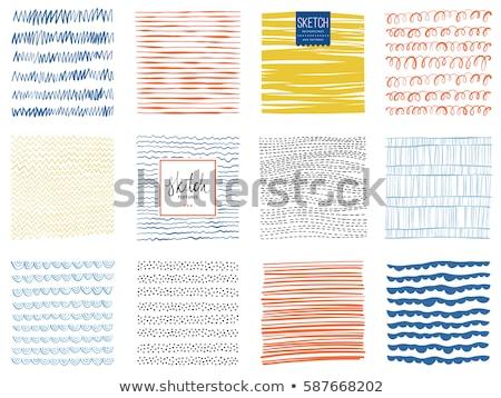 Crayon painted square frame Stock photo © pakete