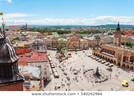 рынке · квадратный · Краков · Польша · собора · небе - Сток-фото © neirfy