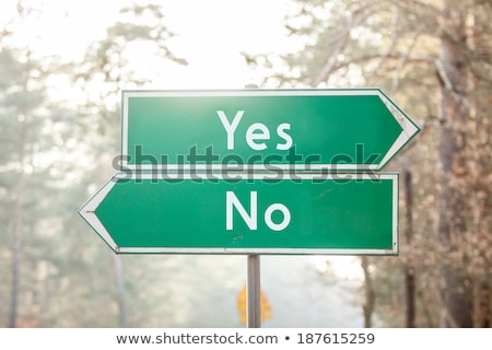 Two green direction signs - War or Peace Stock photo © Zerbor