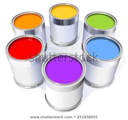 Six coloré peinture maison texture travaux Photo stock © ordogz
