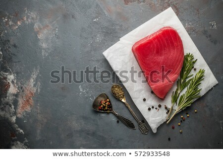 Raw Tuna Steak with Ingredients arround Stock photo © Francesco83