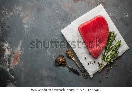 tonhal · saláta · hozzávalók · különböző · zöldség · tonhal · hús - stock fotó © francesco83