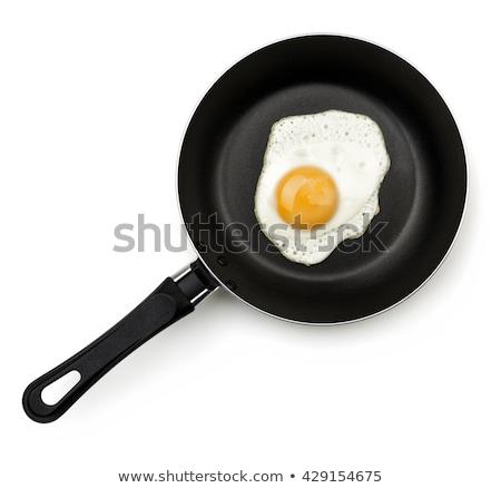 yumurta · tava · üst · görmek · kadın · el - stok fotoğraf © elenaphoto