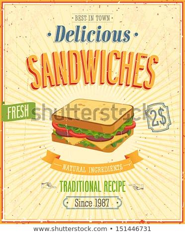 Burger · ikon · şablon · yalıtılmış · beyaz · lezzetli - stok fotoğraf © masay256