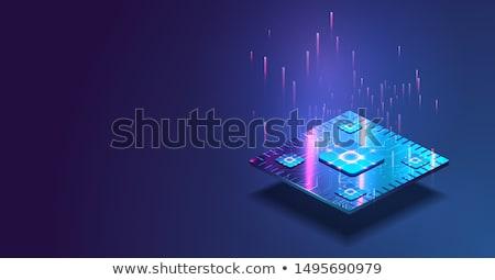CPU chip komputera edytor biały technologii Zdjęcia stock © BrandonSeidel