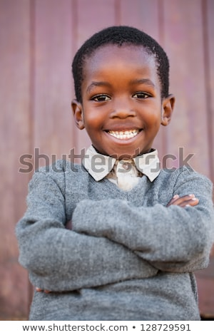African american boy with happy face Stock photo © bluering