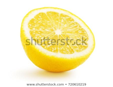 Egy fél citrom friss fehér étel Stock fotó © Digifoodstock
