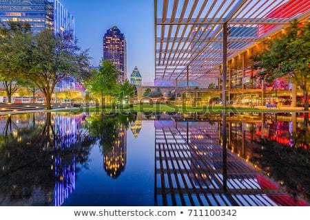 Dallas · linha · do · horizonte · noite · ver · ocidente - foto stock © brandonseidel