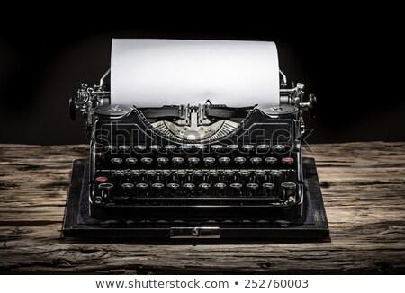 Macchina da scrivere pulsanti comunicazione bianco antichi Foto d'archivio © wavebreak_media