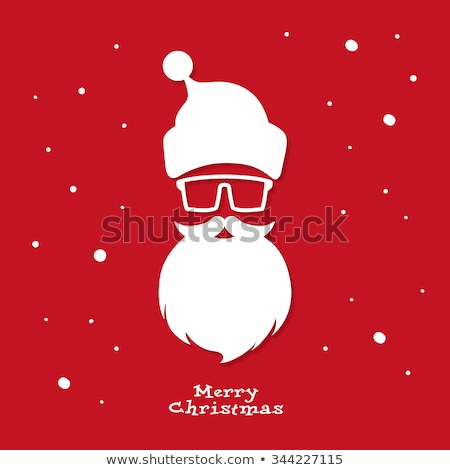 Stock photo: Banner With Santa Claus Cap