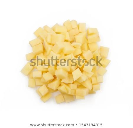 Halom krumpli fehér friss krumpli izolált Stock fotó © Digifoodstock