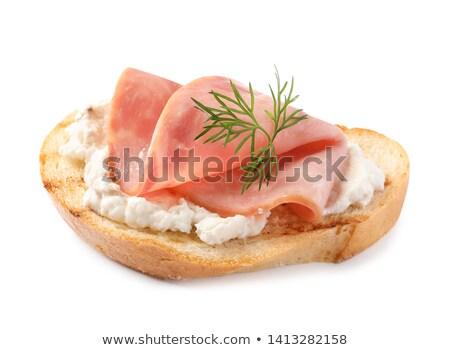 jambon · fotoğraf · lezzetli · maydanoz · beyaz - stok fotoğraf © digifoodstock
