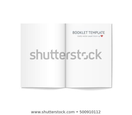 Klasör beyaz broşür vektör 3D Stok fotoğraf © pikepicture