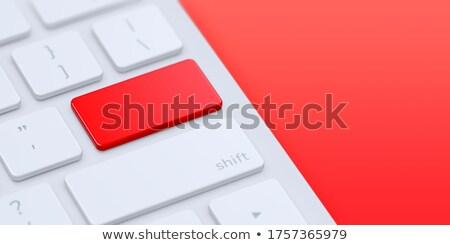 red security key on keyboard 3d illustration stock photo © tashatuvango