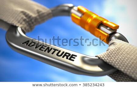 Chrome crochet texte aventure blanche cordes Photo stock © tashatuvango