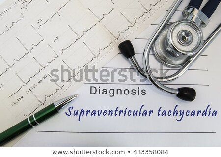 Tachycardia - Printed Diagnosis. Medical Concept. Stock photo © tashatuvango