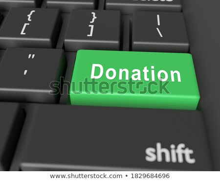 donate closeup of keyboard 3d stock photo © tashatuvango
