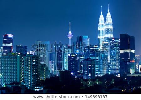 Kuala Lumpur city skyline night view Stock photo © szefei
