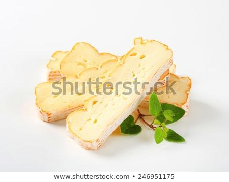Slices of Alsatian Munster cheese Stock photo © Digifoodstock
