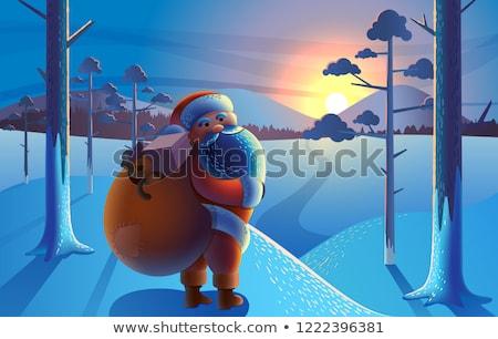 Дед · Мороз · настоящее · Рождества · улыбаясь - Сток-фото © popaukropa