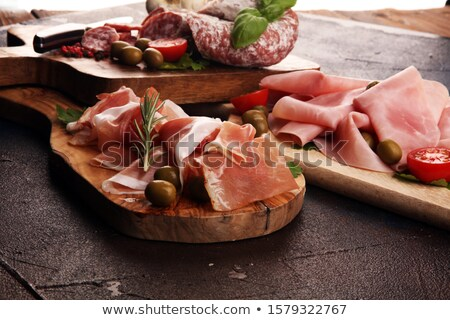 Italian Ham With Slice Stock photo © benchart