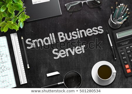 black chalkboard with small business server 3d rendering stock photo © tashatuvango