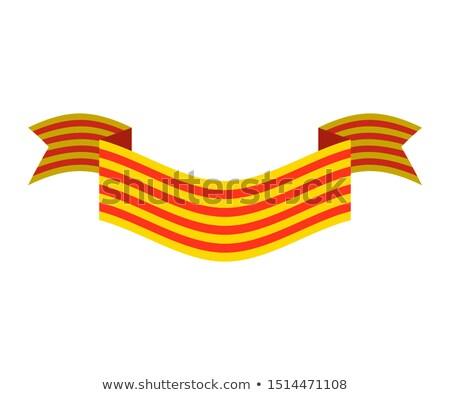 térkép · Spanyolország · részletes · illusztráció · zászló · eps10 - stock fotó © popaukropa