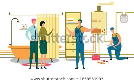 パイプ · レンチ · 産業 · 作業 · 建設 · ツール - ストックフォト © popaukropa