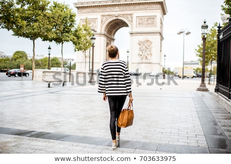 women walking on champs elysees stock photo © is2