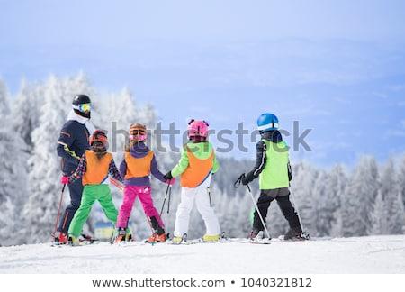 narciarskie · instruktor · nauczania · niebo · człowiek · sportu - zdjęcia stock © is2