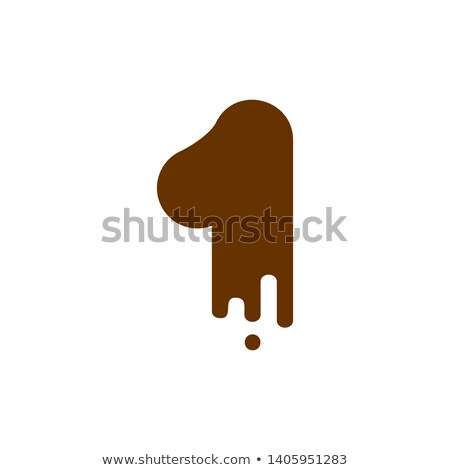 Number 1 Chocolate font. Sweetness numeral one alphabet. Liquid  Stock photo © MaryValery