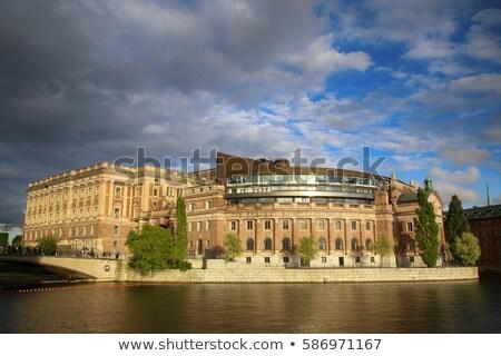 Brug parlement gebouw Stockholm Zweden Stockfoto © vladacanon