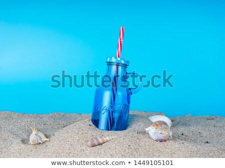 Choinka czerwony cacko plaży Zdjęcia stock © lovleah