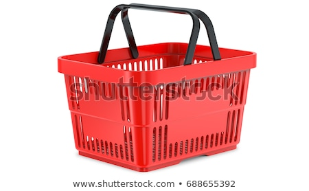 Shopping baskets supermarket equipment empty boxes Stock photo © LoopAll