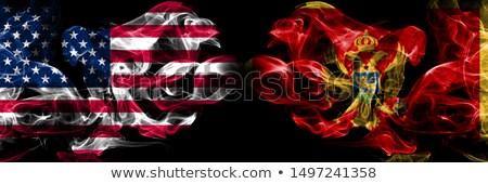 サッカー 炎 フラグ モンテネグロ 黒 3次元の図 ストックフォト © MikhailMishchenko