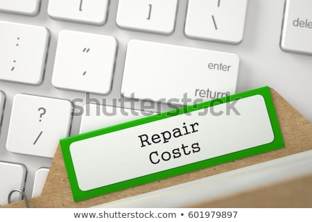 Card File with Inscription Maintenance Costs. 3D. Stock photo © tashatuvango