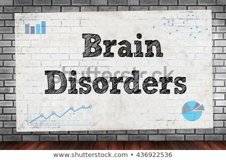 healthcare concept schizophrenia on yellow wall stock photo © tashatuvango