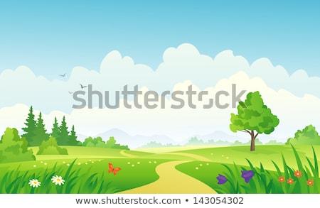 spring cartoon landscape stock photo © mpessaris