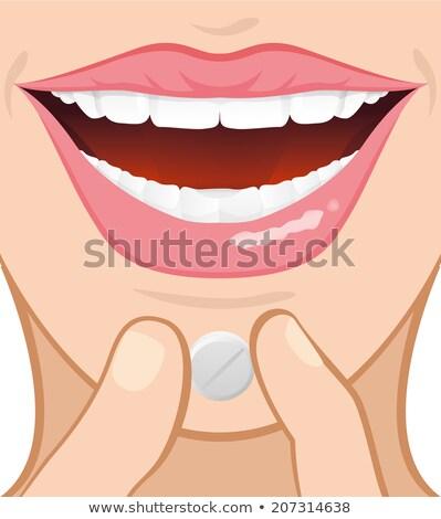 Kabala fogamzásgátló tabletták illusztráció hólyag csomag Stock fotó © lenm