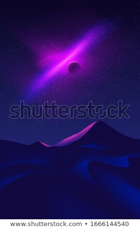 nature scene with dry land at night time stock photo © bluering